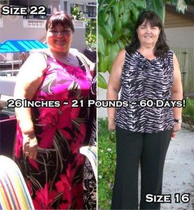 Size 22 to Size 16 in 60 days!